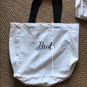 Three Wedding Bridal Party Totes 3/ $12 👰 NEW
